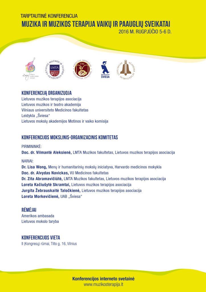 Konferencijos programa 1