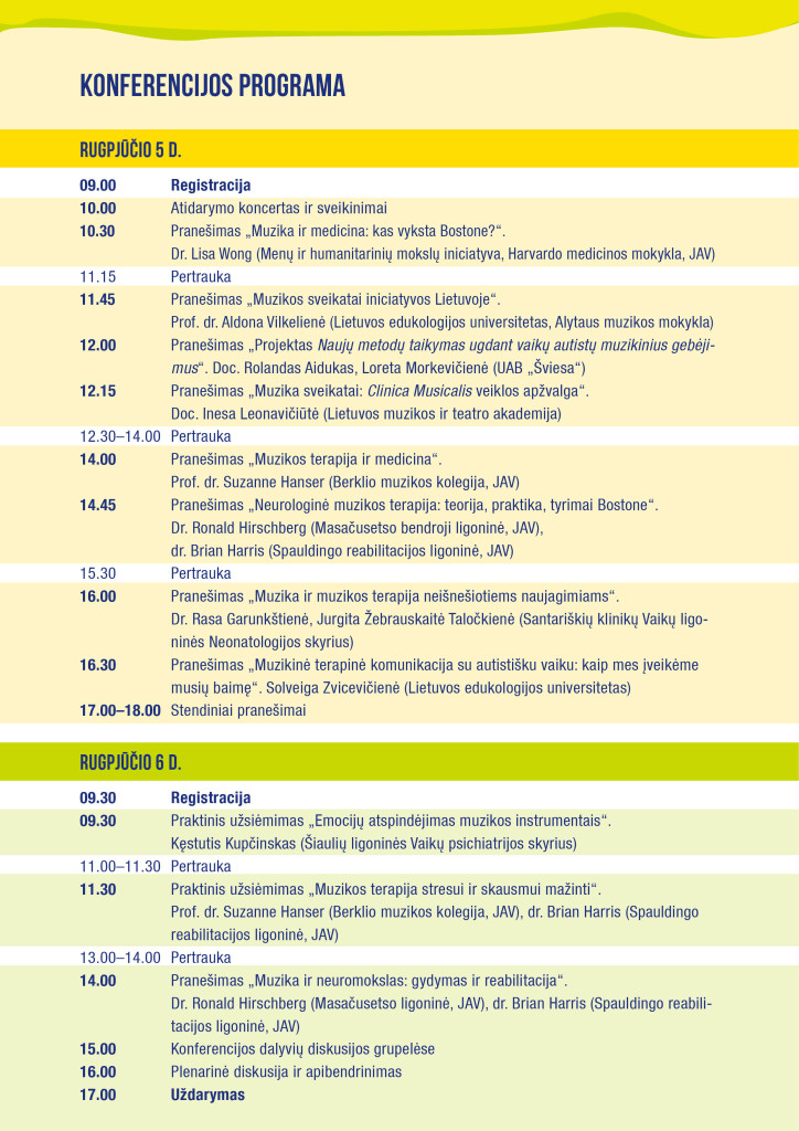 Konferencijos programa 2